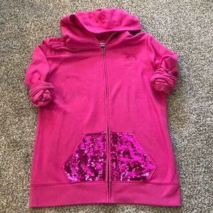 Victoria's Secret PINK Zip Up w/ sequined pockets